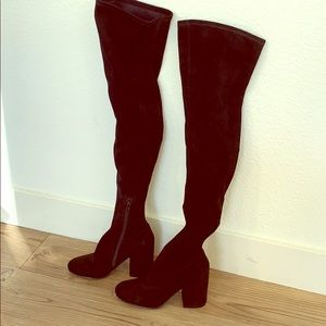 Marc Fisher Thigh High faux Suede Boot size 5